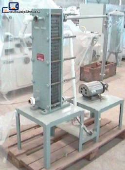 Pasteurizador con placas de acero inoxidable 50-J