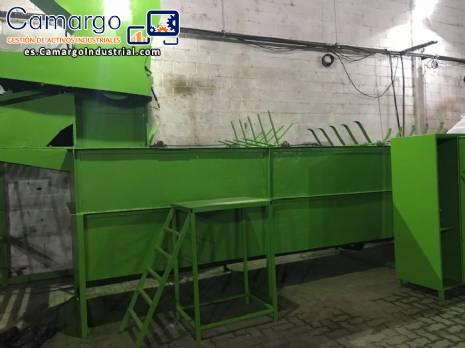Fábrica de reciclaje de plásticos 500 kg