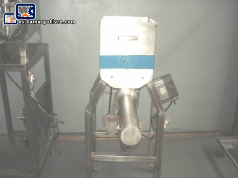 Batidora industrial en acero inoxidable con tornillo