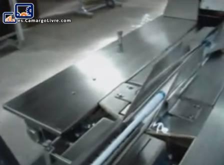 Flujo intermitente embalar envasado